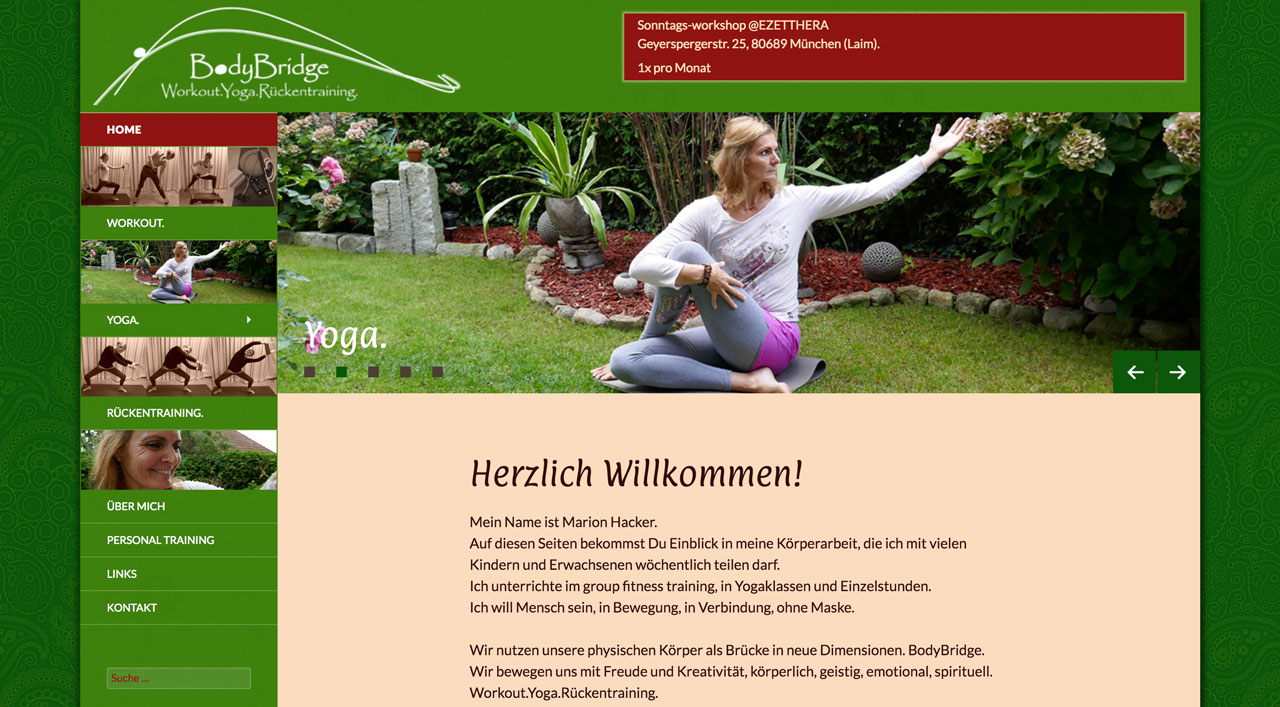 BodyBridge - Workout Yoga Rückentraining