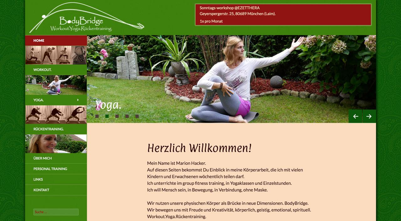 BodyBridge - Workout Yoga Rückentraining