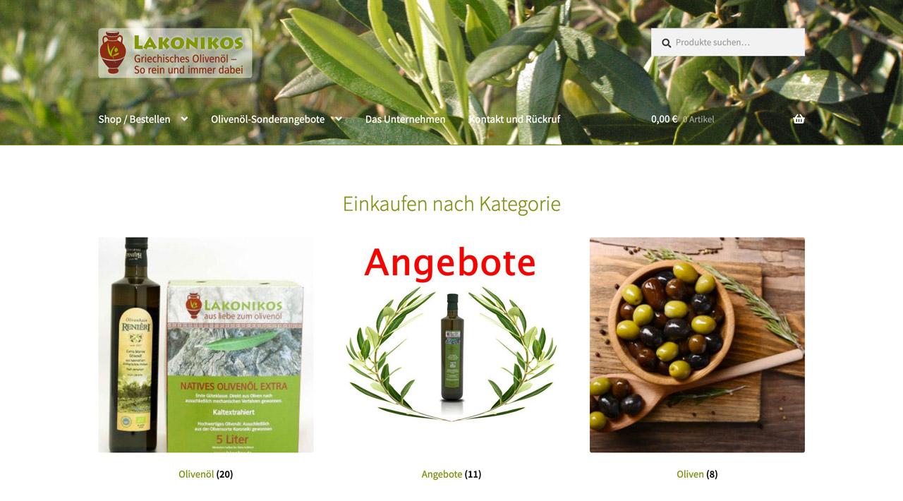 Screenshot von Lakonikos.de